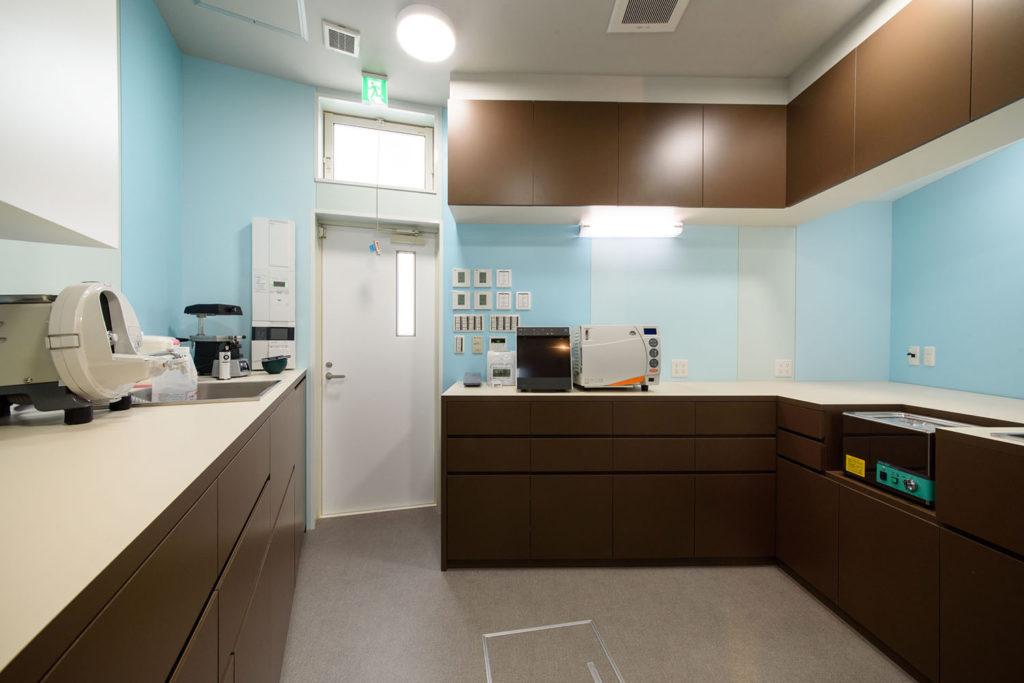 滅菌室と技巧室
